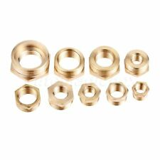 2PCS Brass Hex Reducing Bushing Adapter Male to Female Pipe Fitting Couplers Kit
