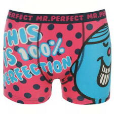 MENS PINK MR PERFECT BOXERS BOXER SHORTS UNDERWEAR TRUNKS PANTS
