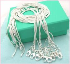 Free shipping wholesale 5PCS sterling solid silver 1MM snake chain IL