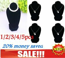 1/2/3/4/5pcs Jewellery Necklace Chain Display Bust Velvet Black Holder Stand IL
