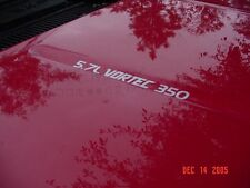 VORTEC HOOD DECALS choice of 4.3L V6, 5.7L 350 or 7.4L 454 + choice of color!