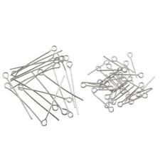 10pcs Eye Pins Findings Head Pins 8mm Hole 0.7mm Thick DIY Jewelry Making
