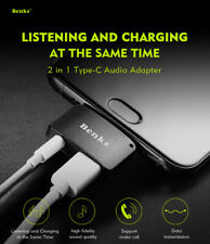 New Benks Portable Listening With Charging 2in1 Type-c Audio Adapter For Phones