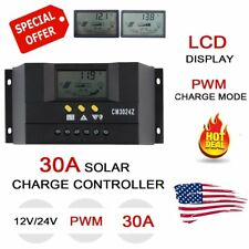 US Stock 30A PWM Solar Panel Battery Regulator Charge Controller 12V/24V Auto BT