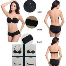 Women Bra Wedding Invisible Strapless Push Up Bra Multiway Clear Back Straps Bra