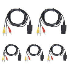 5 FOR NINTENDO 64 N64 GAMECUBE AV AUDIO VIDEO A/V CABLE CORD WIRE SYSTEM CONSOLE