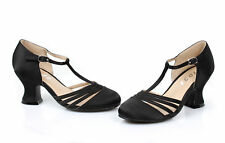 222-LUCILLE, 2'' Heel Satin Dance Shoe by Ellie Shoes