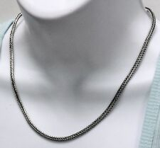 New Square Wheat Rope Snake Bali 3 mm Chain Necklace 925 Sterling Silver