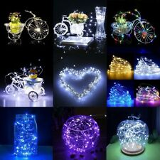 10M 33FT 100LED Silver Copper Wire LED Starry Fairy Lights String Christmas Deco