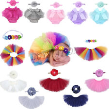 Lovely Newborn Baby Girls Diaper Headband Ruffle Tutu Costume Outfit Photo Prop