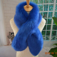 Fur Scarf Warm Fox Shawl Women Collar Wrap Stole Faux Winter Long Real Soft