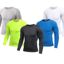 Men's Running Jogging Basketball Jersey Compression Tights Dri-fit Plain Tops