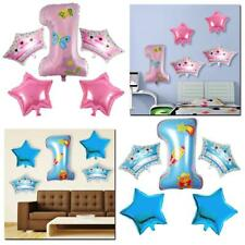 Baby Shower Balloons Inflatable Foil Decoration Boy Girl Birthday Party Number