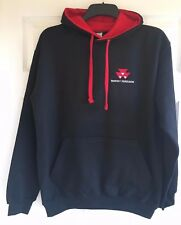 Massey Ferguson Tractor Embroidered Contrast Hoodie - XS to 2XL