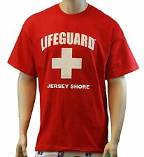 Lifeguard T-Shirt Jersey Shore Official Licensed Life Guard Tee Red lifeguard-t
