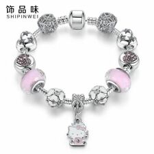 Cute Cat Kitty Charms Fit Original Bracelet Bangle Murano Glass Beads Bracelet f
