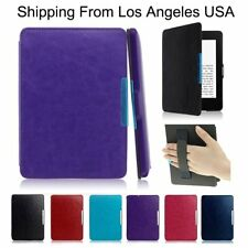 Leather Smart Shell Case Cover for Amazon Kindle Paperwhite1/2/3 7th & Kindle 6