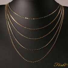 "Unisex Ladies 18ct 18K Gold Filled 16"" 18"" 20"" 22"" Patterned Necklace Chain"