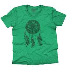 Native American Indian Wolf Dream Catcher V-Neck T-Shirt