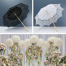 Battenburg Bridal Lace Pure Cotton Umbrella Embroidery Wedding Sun Parasol
