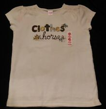 Gymboree EQUESTRIAN CLUB Clothes Horse Top with Floral Embroidery NWT 8