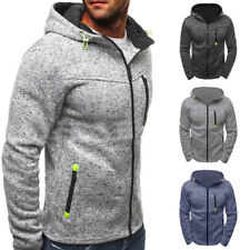 Men Winter Slim Hoodie Zip Up Coat Hooded Sweatshirt Coat Jacket Outwear Sweater