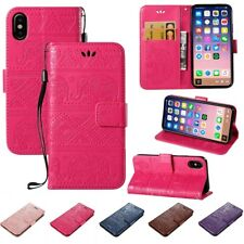 Exquisite Cute Elephant Leather Flip Stand Wallet Case Cover For iPhone X 8