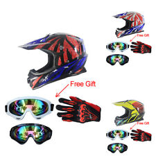ABS DOT Motorcycle Off Road ATV Helmet+Goggles+Gloves Motocross Protect Gear BCL