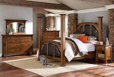 Amish Luxury Bedroom Set Mission Solid Wood Queen King 5-Pc
