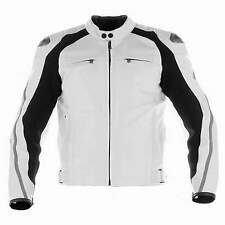 BLACK/WHITE LEATHER JACKET MOTORCYCLE BIKER JACKET MEN MOTORBIKE LEATHER JACKET