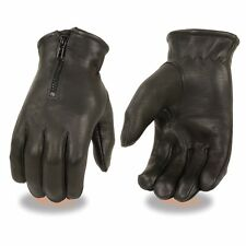 Milwaukee Leather Men's Deerskin Thermal Lined Gloves W/ Zipper Closure - SH866