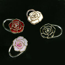 Folding Rose Flower Handbag Hook Hanger Holder Bag LockingDevice Bag Decor