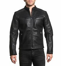 Affliction Black Premium - BREAKING THE LAW - PU Leather Biker Jacket - Moto
