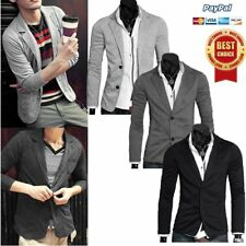 New Stylish Men's Casual Slim Fit Two Button Suit Blazer Coat Jacket Tops OR