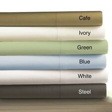 """100% Egyptian Cotton 15"""" Deep Pocket 6pc Solid Bed Sheet Set All Size & Color"""