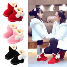 Toddler Baby Kids Snow Boots Girls Winter Warm Soft Shoes Booties Christmas Shoe