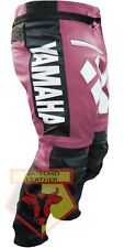YAMAHA PINK MOTORCYCLE MOTORBIKE BIKER COWHIDE LEATHER RACING ARMOURED PANT