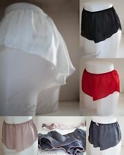 French Knickers Silky Satin panties sexy lingerie underwear Black Grey white +