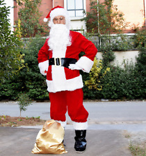 Fashion Men's Deluxe Santa Suit Set Christmas Adult Santa Claus Cosplay Costume