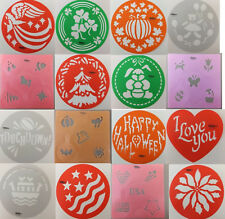 Round Cake Stencil or Cupcake & Cookie Stencil by Wilton Seasons Sports U PICK