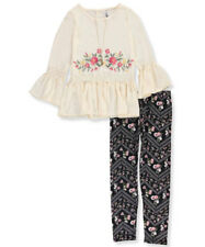 Beautees Big Girls' 2-Piece Outfit with Necklace (Sizes 7 - 16)