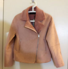 NWT Zara Women Pink Suede Effect Jacket Coat / Size XS / L / XL Available