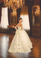 Formal Lace Princess Gowns Flower Girl Dress Wedding Party Birthday Bridesmaid