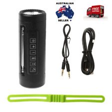 Bicycle Bluetooth Speaker LED Flashlight With Microphone FM Radio Power Bank