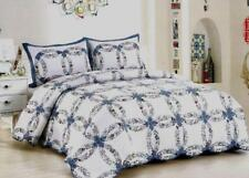 Classic Romantic Wedding RIng Quilt King Queen 3 Piece Set Shams Patchwork Fresh
