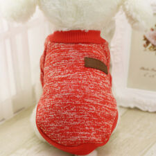 Classic Puppy Dog Winter Clothes Cat Jacket Pet Sweater Coat Fashion Hoodie Red
