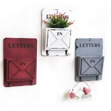 Distressed Rustic Style Wooden Letter Holder Flower Arranging Box Rack Ornaments