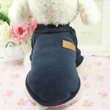 Pet Dog Cat Sweater Hoodie Coat 6 Size Winter Clothes Fashion Jacket Dark Gray