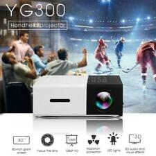 YG300 1080P HD LED Mini Portable Home Projector Handheld Multimedia Player W7D2