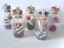 Fathers Day Personalised Charm Bottle - Ideal Gift/Keepsake for that Special Day